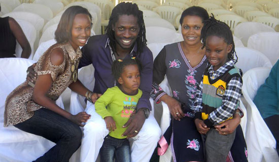 Bobi Wine family poses for photograph with Buganda queen Sylvia Naginda