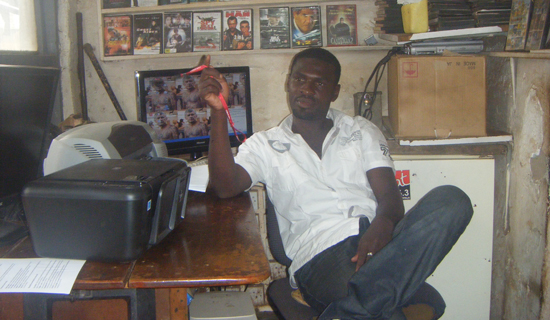 Ssebulime at his shop. Photo by Jonathan Kabugo