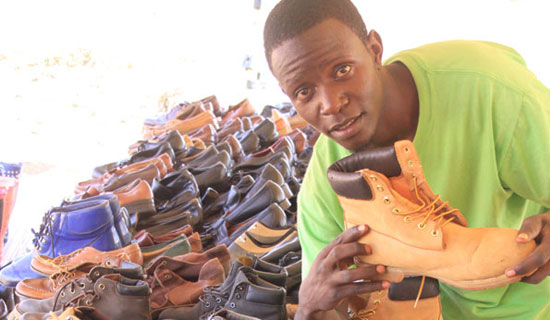 Latif has specialised in shoes. PHOTO BY ISMAIL KEZAALA