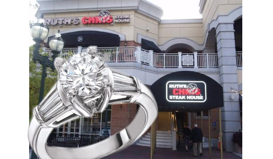 Ruth's Chris Steak House, where the proposal was done