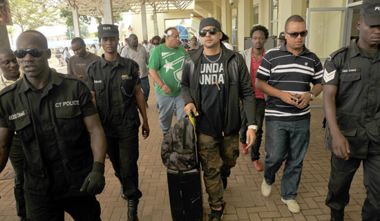 Sean Paul arrives at Entebbe International Air Port, Photo By Stephen Wandera