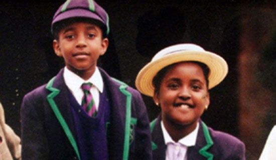 Princess and King Oyo during their school days.