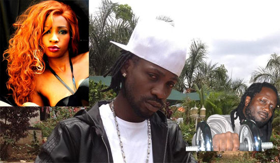 Some of the artists who have contributed in popularising certain words. Cindy(L) Bobiwine (C) Bebecool (R)