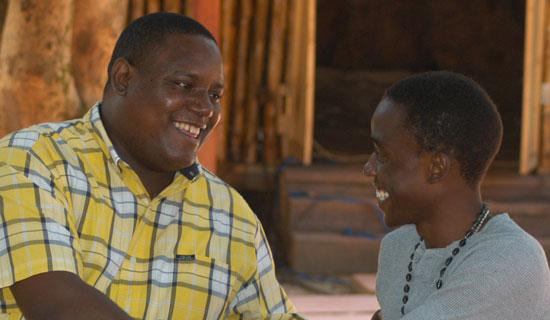 Jenkins meets Mukiibi. Photo By Eddie Chicco