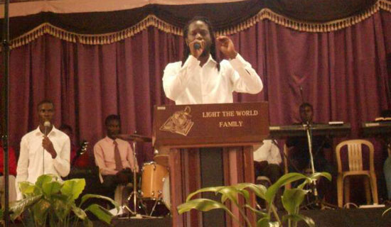 Bebe Cool preaching