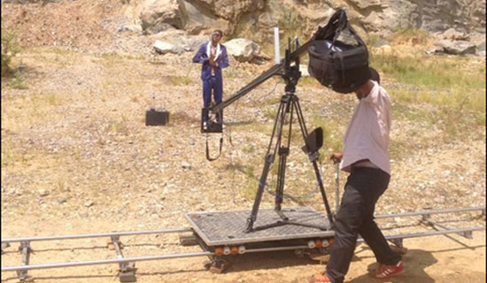 Chameleone on the rocky set of his Badilisha video. COURTESY PHOTO