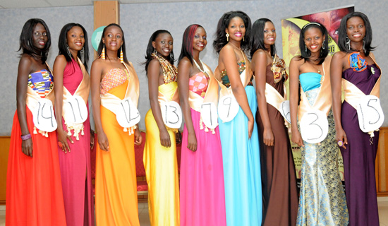 From left to right: Mercy Waigo, Shamim Nakamyuka, Kellen Nakaye, Sandra Akello, Kevina Wandira, Aisha Nagudi, Margaret Munyendo, Harriet Barbara Nakitto and Sarah Abe Wacha.  Courtesy Photo.