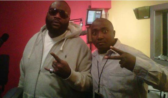 American rapper Rick Ross (L) with Suudi.