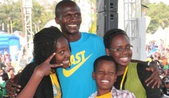Superstar Kids pose with Kiprotich