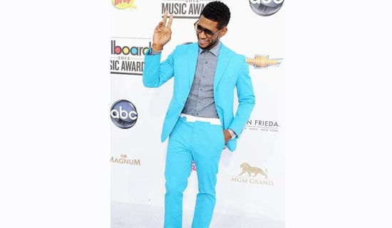 Colorful suits are trendy