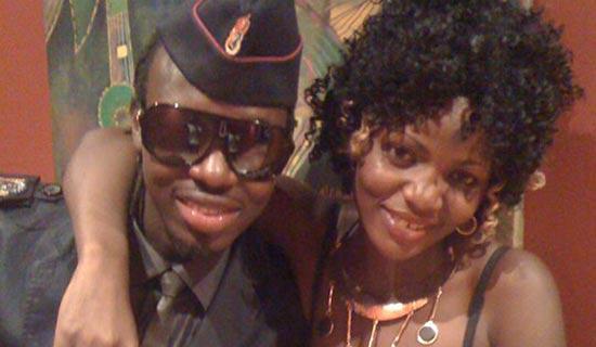 Kim Swagga poses with Karungi. PHOTO BY ISAAC SSEJJOMBWE