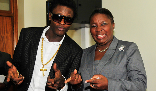 Jose Chameleone and Speaker Rebecca Kadaga