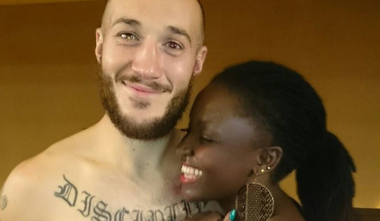 Abraham with a Ugandan girl