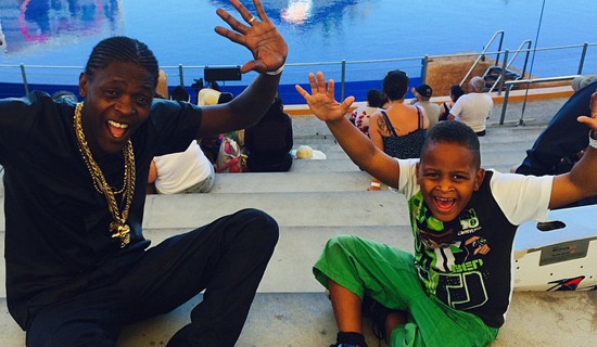 Chameleone with his son