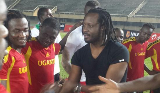 Bebe cool meets the Uganda cranes team