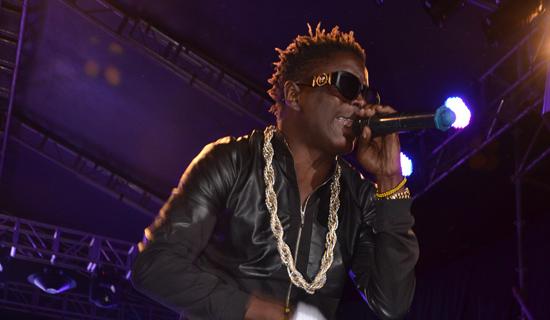 King Saha during concert