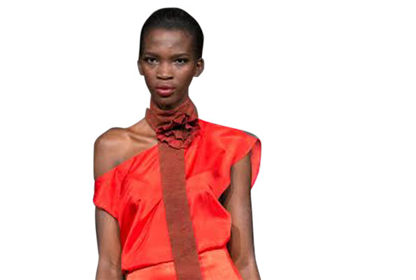 Africa's Top Model Stacy Aamito who was the face of last year's Kampala Fashion Week.