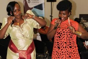 Harriet Kisakye (Right)