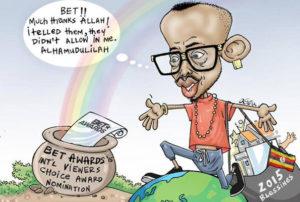 Eddie Kenzo cartoon after he won BET award.