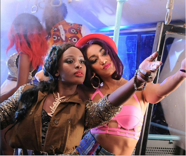 Leila Kayondo with Jamaican artiste Nyanda
