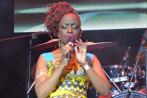 Solome performs at the Qwela Divas show recently. PHOTO BY ISAAC SSEJJOMBWE