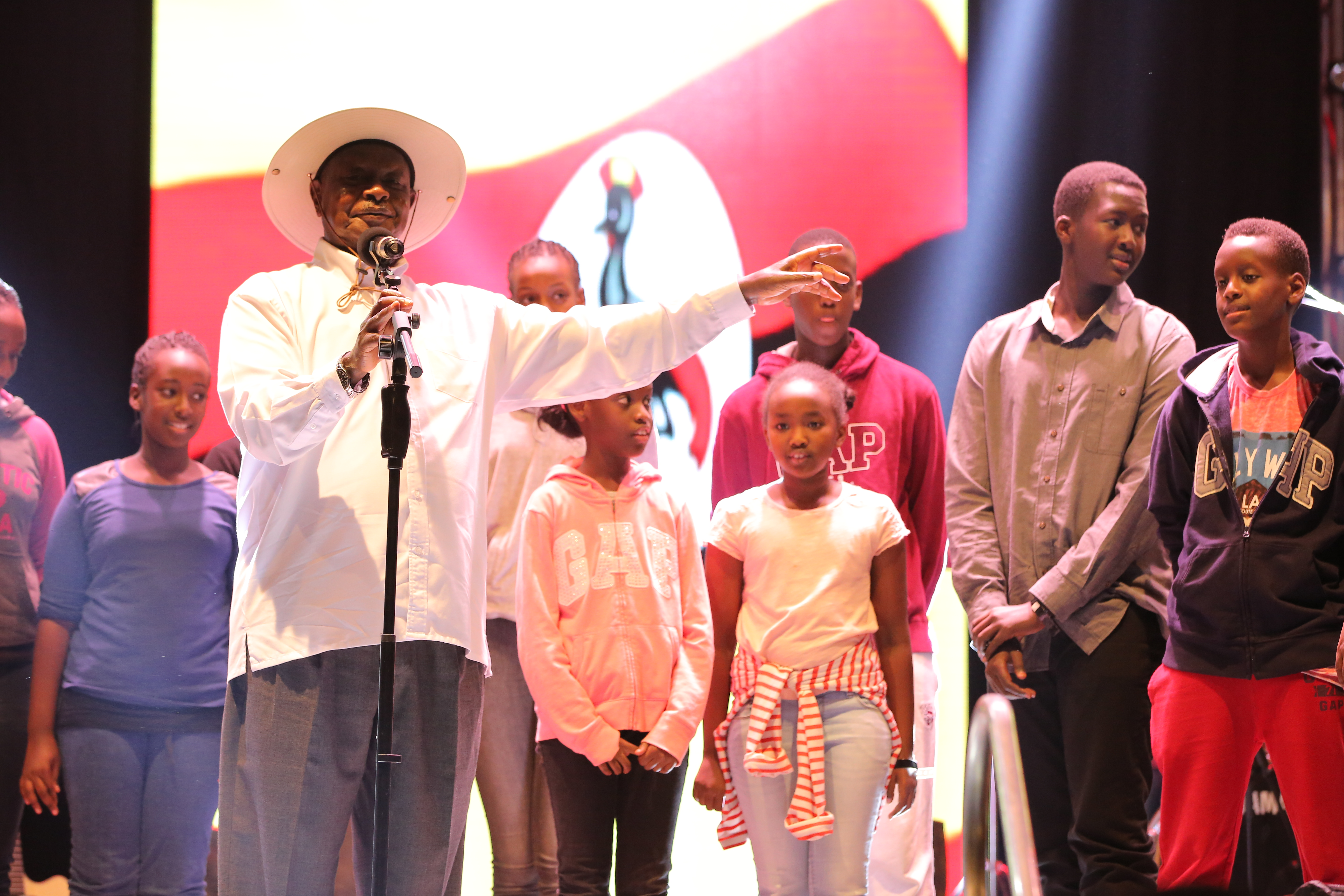 President Museveni, the biggest surprise at the event.
