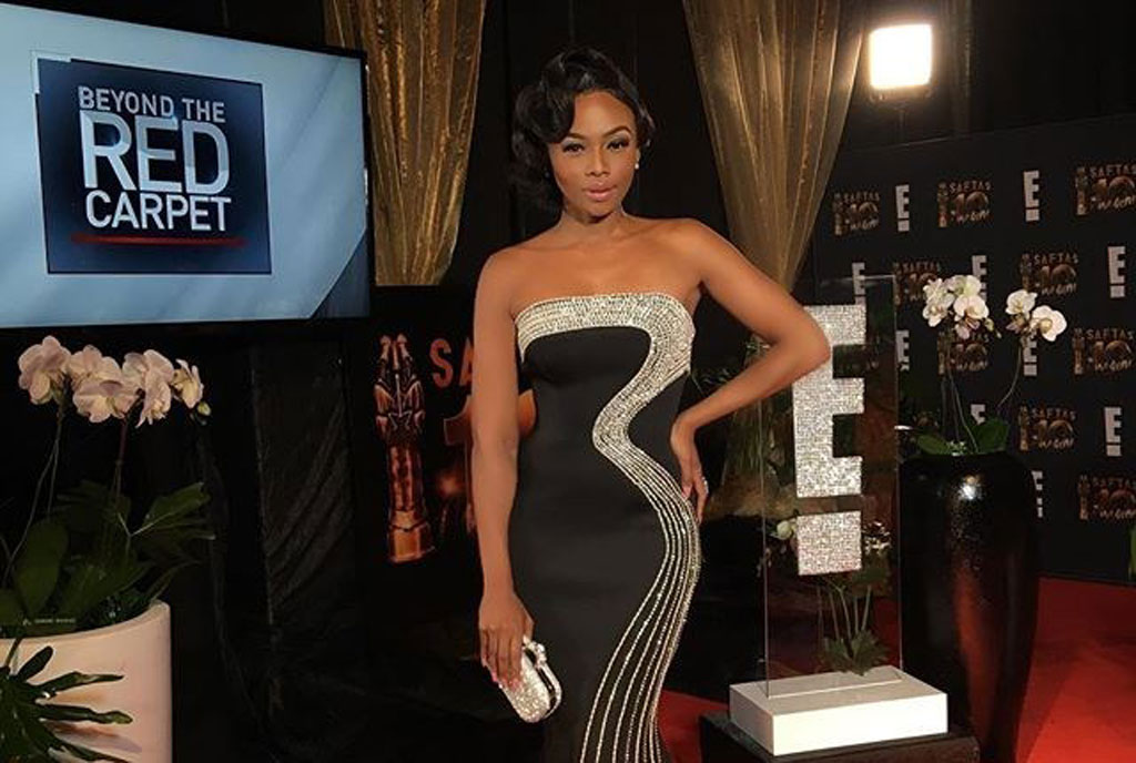 Bonang Matheba, south African Tv host of the E! Beyond the Red Carpet