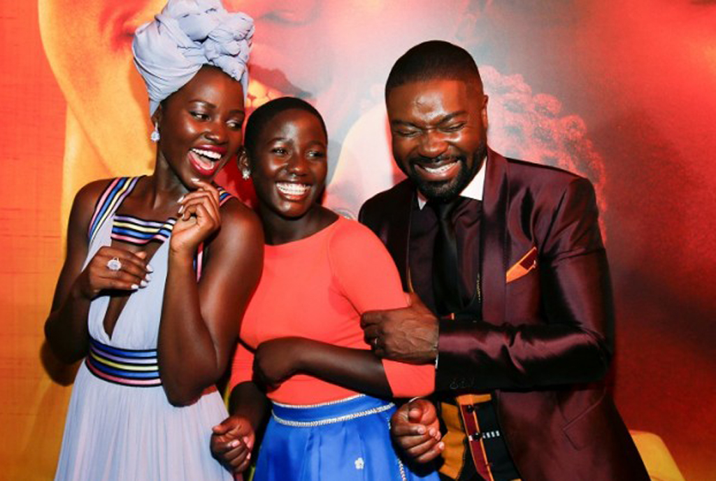 "Lupita, Madina and David at ""Queen of Katwe"" premiere in Los Angeles"