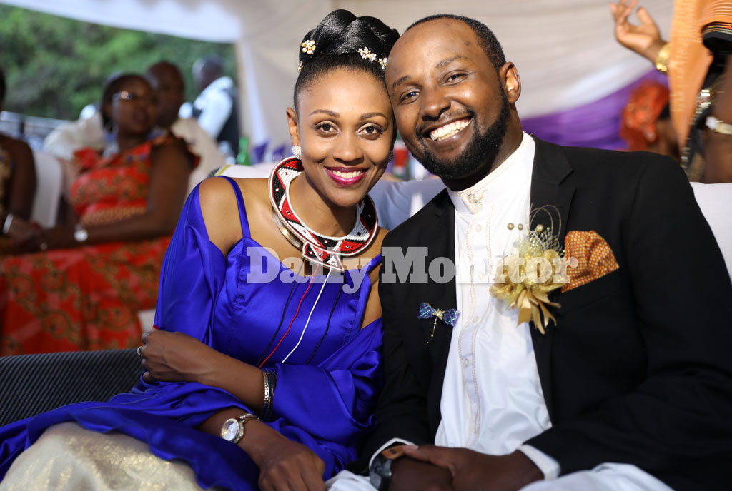 Doreen Biira introduces her fiancé Newton Kungu. Photo by Rachel Mabala