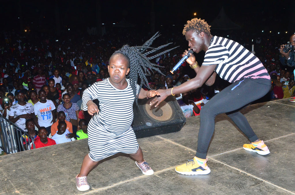 Sylvia Nandudu performing Luswata with Gravity Omutujju. Courtesy photo
