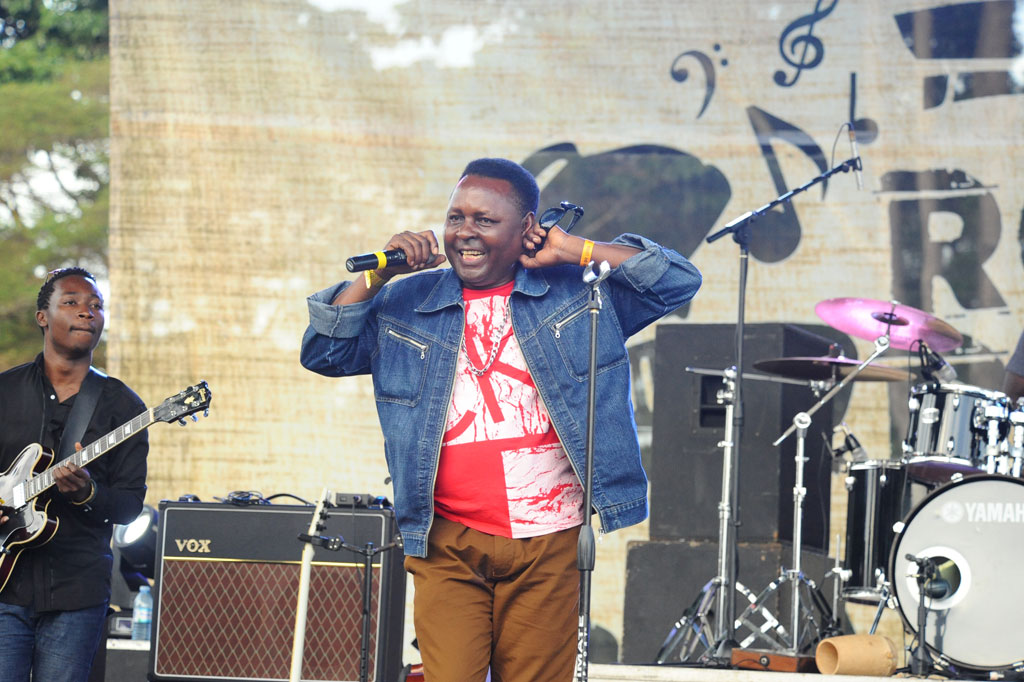 Kabuye Semboga performs at Roast and Rhyme. Photo by Eddie Chicco