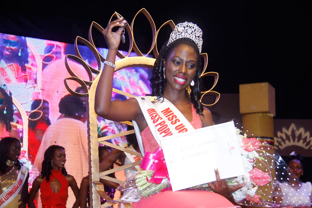 Leah Kagasa after she was crowned Miss Uganda 2016/17 last year. PHOTO BY ABUBAKER LUBOWA