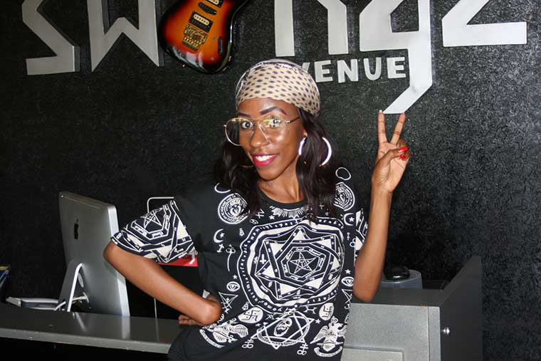 Vinka, one of Swangz Avenue's signings poses for a photo at the production house's premises