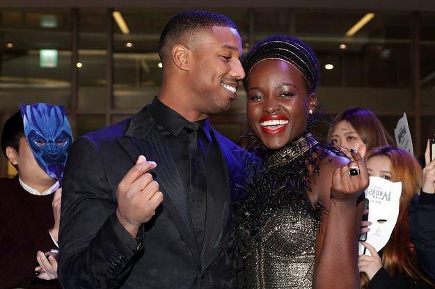 Lupita Nyong'o and Michael B. Jordan