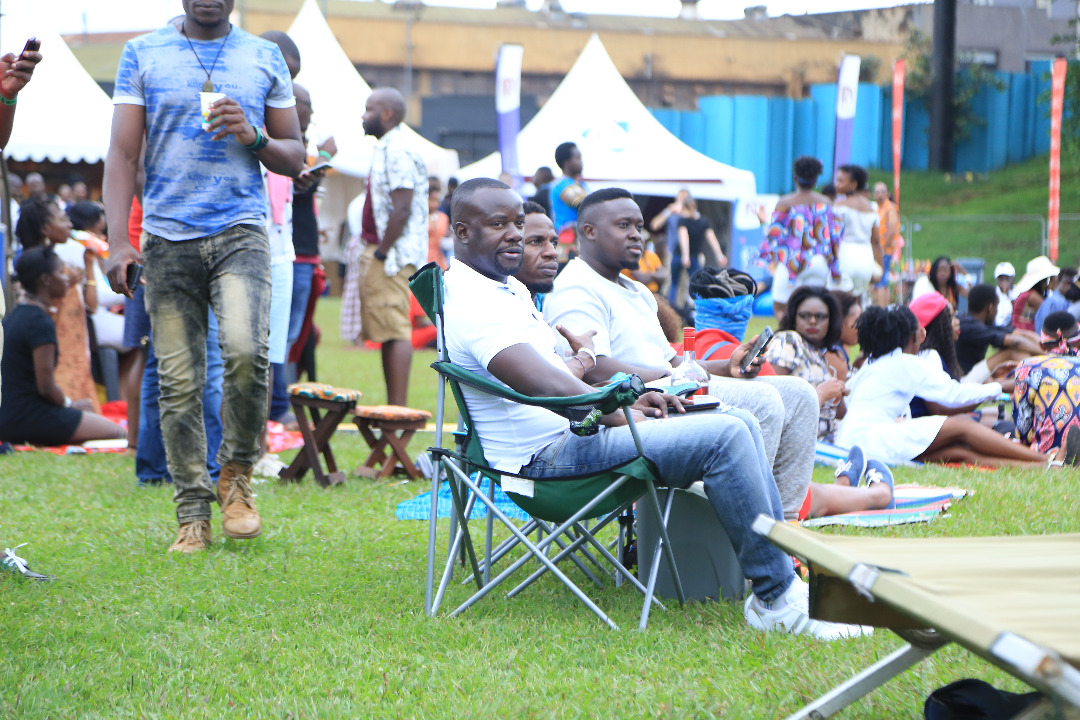 Some of the revelers at Blankets and wine