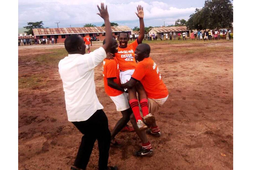 Bishop football goal