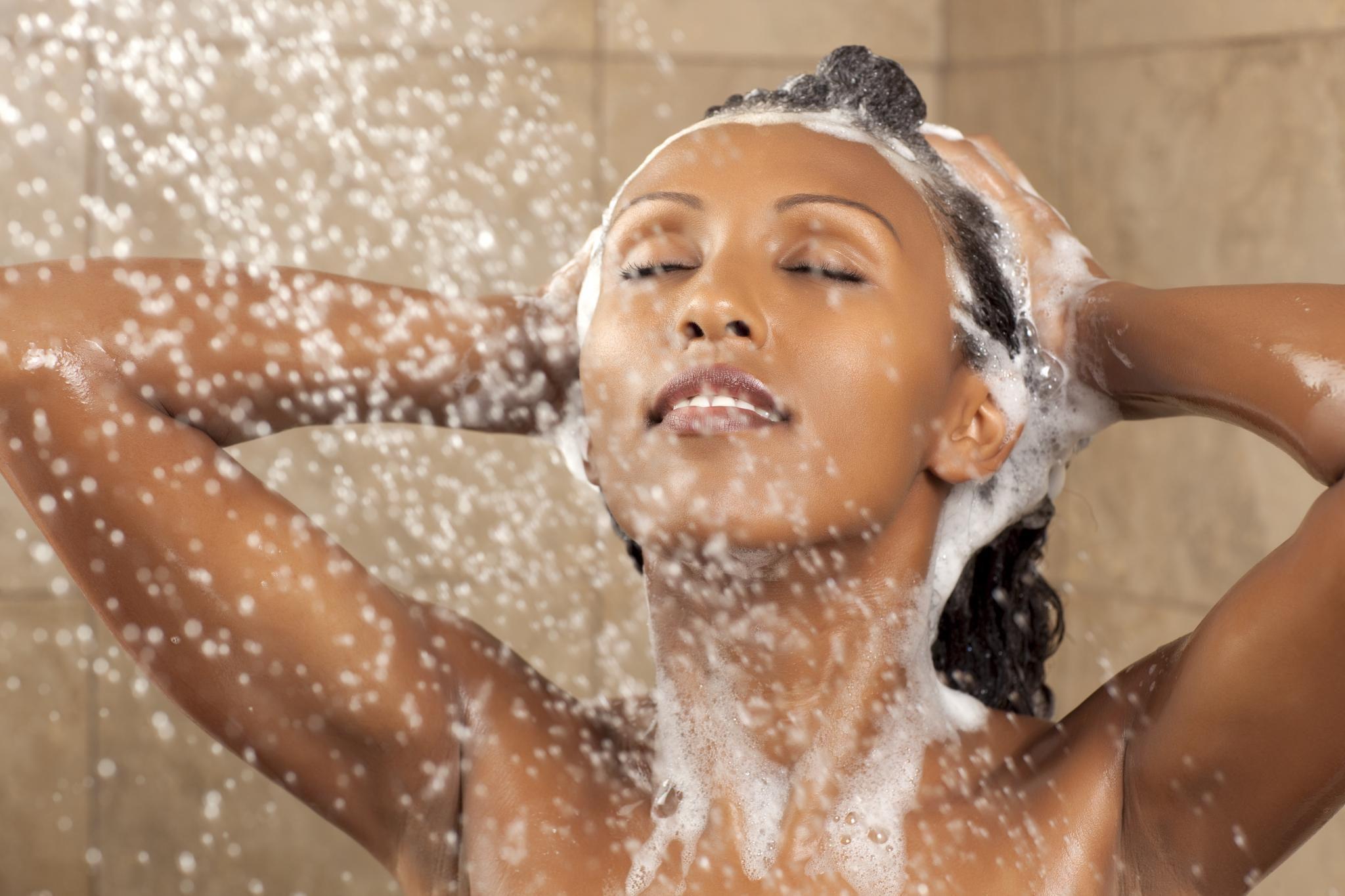Bathing hot water in Kenya