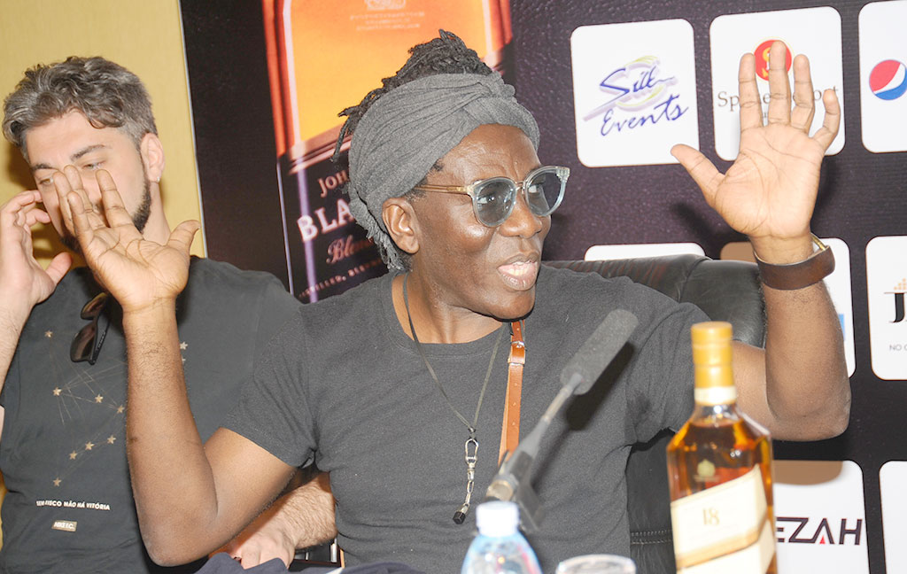 The Grammy Award winner Richard Bona was addressing the press at Speke resort Munyono PHOTO BY EDDIE CHICCO