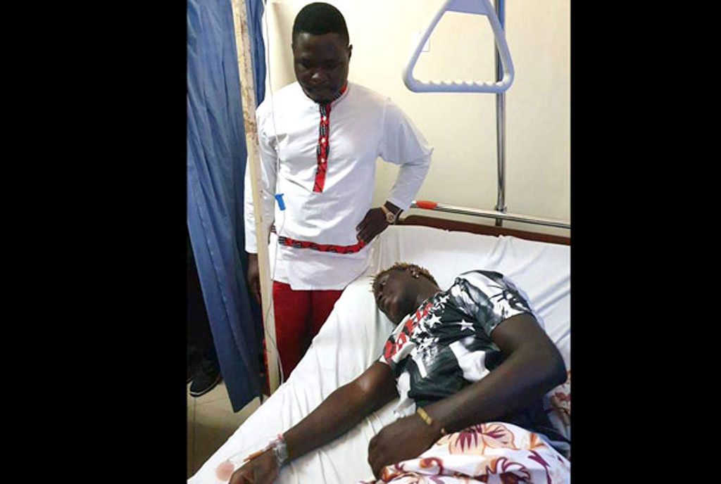 Ugandan rapper Gravity Omutujju in a stable condition after