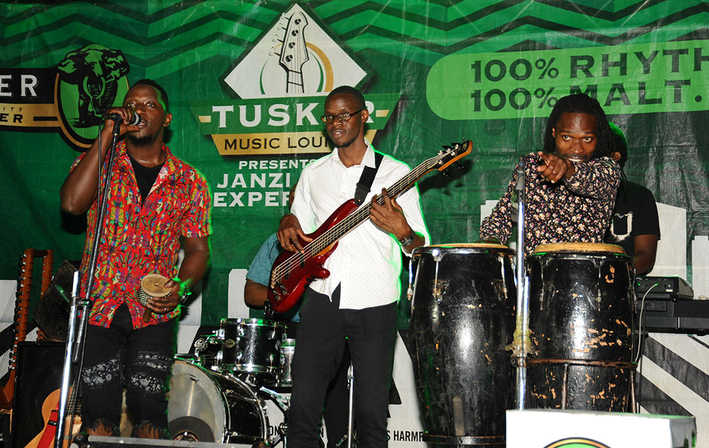 Members of the Janzi Band performing at the Tusker Malt Music Lounge at Tropix Bar (PHOTOS BY EDDIE CHICCO)