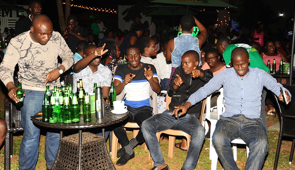 Patrons enjoying the Tusker malt