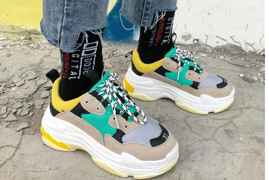 """f918672a16f FASHION TIP: The """"Dad sneaker"""" – Sqoop – Its deep"""